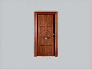 Ceviz Kaplamalı Çelik Kapılar RM-04